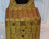 Folk Art Matchstick Jewelry Box