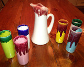 Mid Century Ceramic Pitcher Set