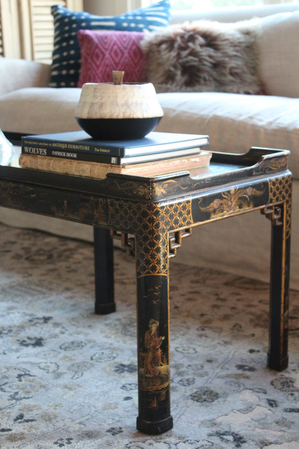 1920's Chinoiserie Handpainted Coffee Table