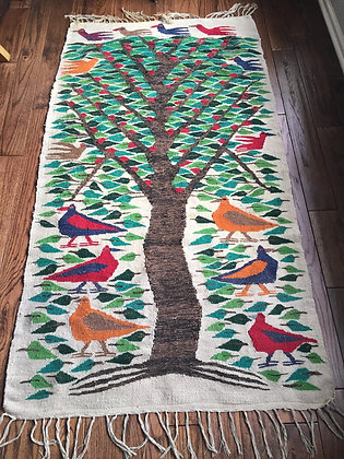 SOLD!! Vintage Tree of Life Wool Rug
