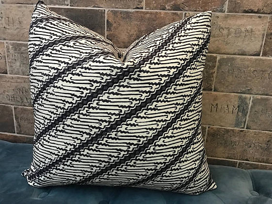 New! Modern Ink Print Linen Pillow
