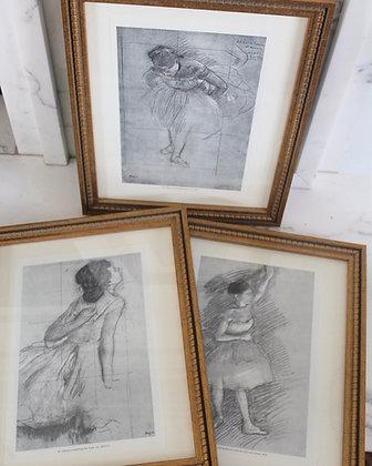 SOLD!!Vintage Framed Degas Art Prints