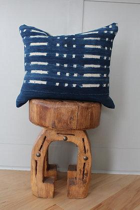 Authentic Indigo African Mudcloth Pillow