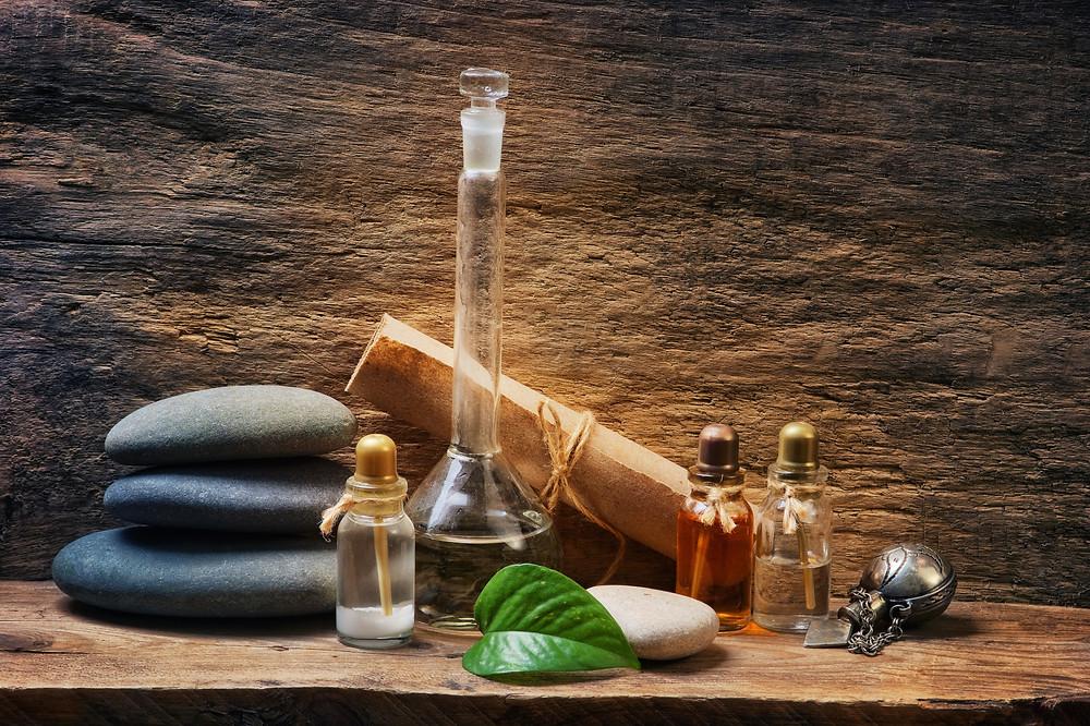 Shoe deodorizing essential oils