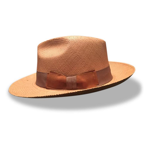 Fronay Co Genuine Natural Brown Panama Hat | X-Large