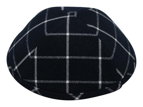Ikippah Navy Plaid Yarmulke