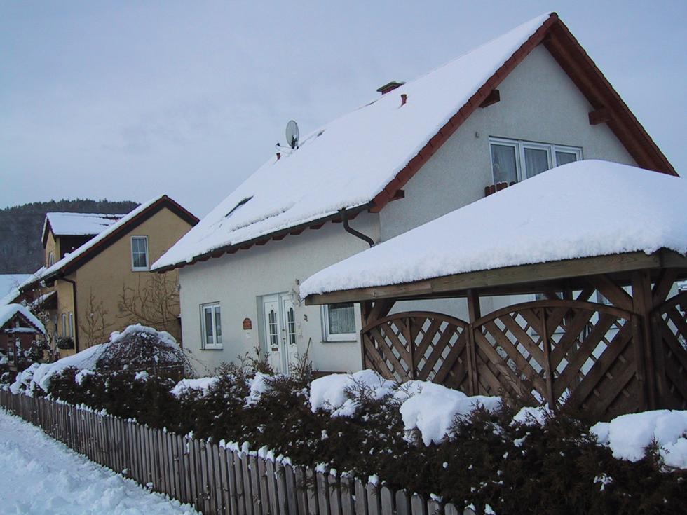 Haus Lerchenfeld in de winter