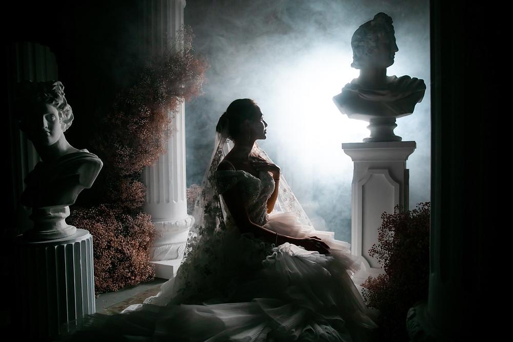 A Dialight bride sits amongst an Events by Mod setup