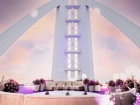 Helipad Wedding at Burj Al Arab by Dialight