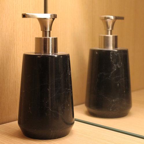 Black marble soap dispenser