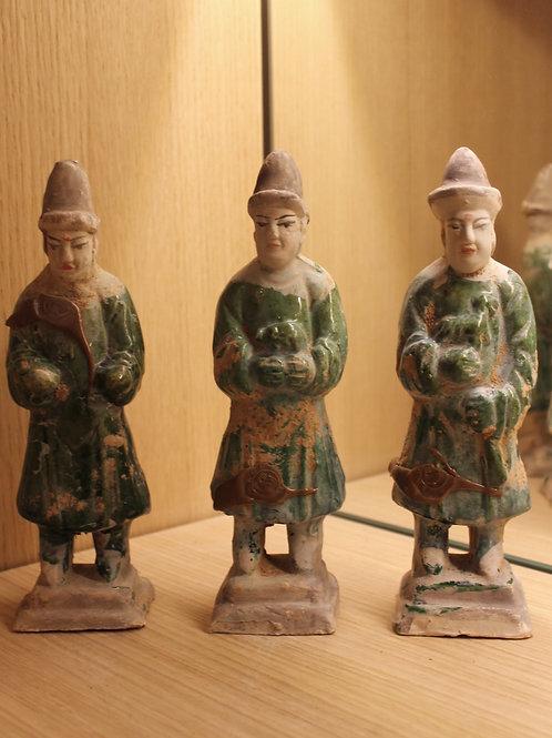Asian glazed statue per piece