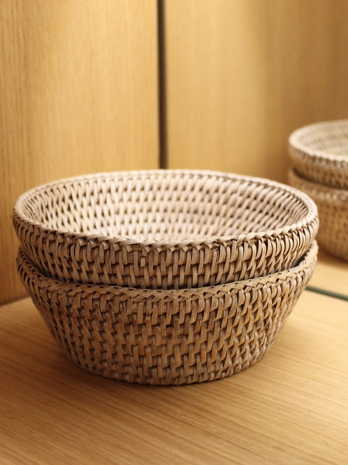 Rattan bowl per piece