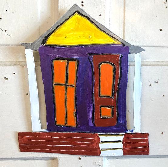 Small Violet Shotgun House by Pat Juneau