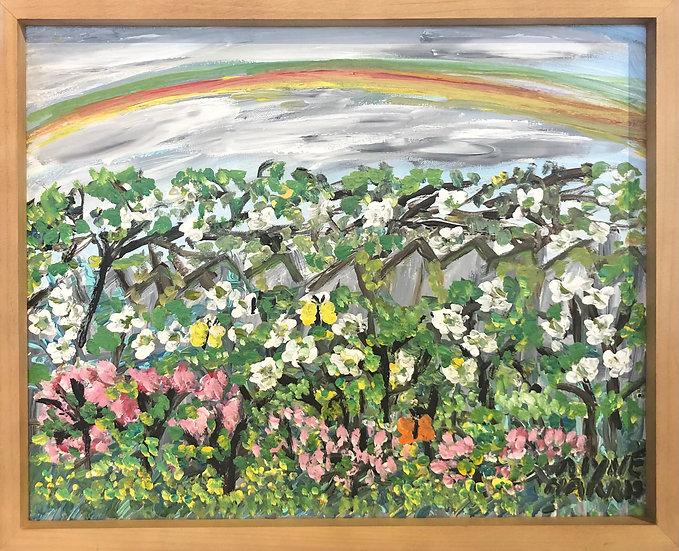 Rainbow Over Wildflowers by Alyne Harris