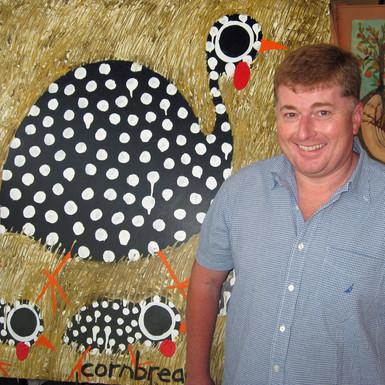 John Cornbread Anderson Art Guinea Hens Art