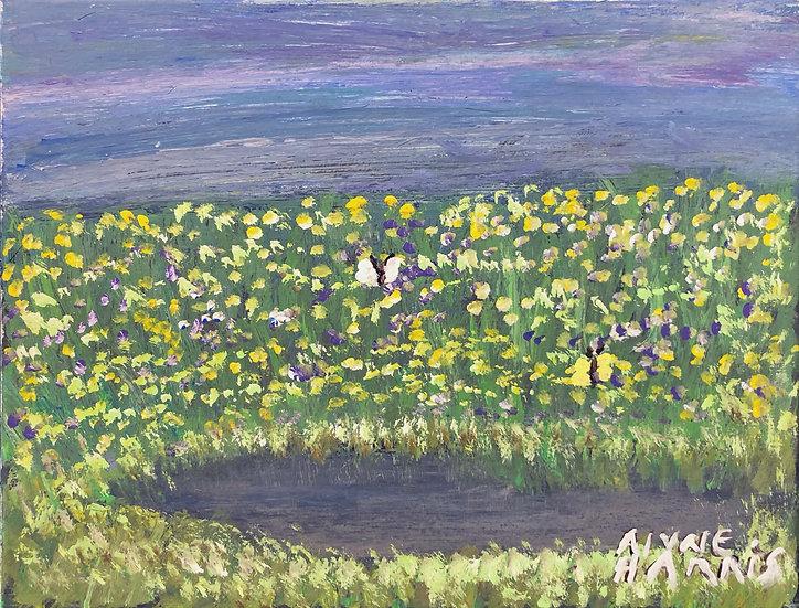 Pond on a Stormy Day by Alyne Harris