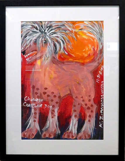 Chinese Crested Dog by Kurt Zimmerman