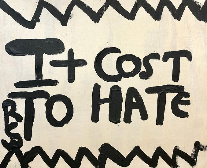 Cost to Hate (B&W) by Ruby C. Williams