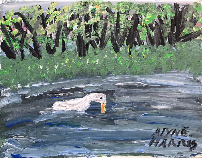 Duck in the Stream by Alyne Harris