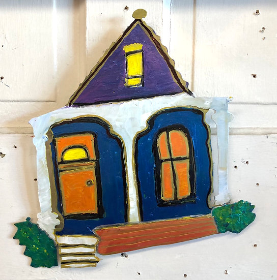 Blue Shotgun House by Pat Juneau