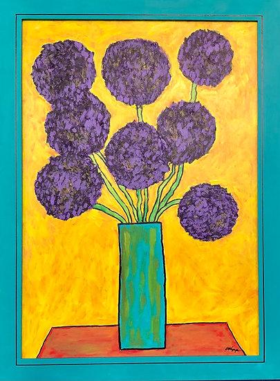 Purple Poms by Roger Kipp