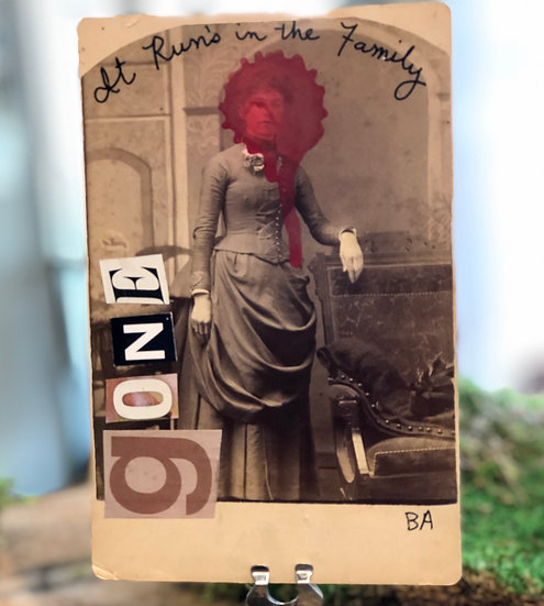 It Runs in the Family Cabinet Card by Butch Anthony