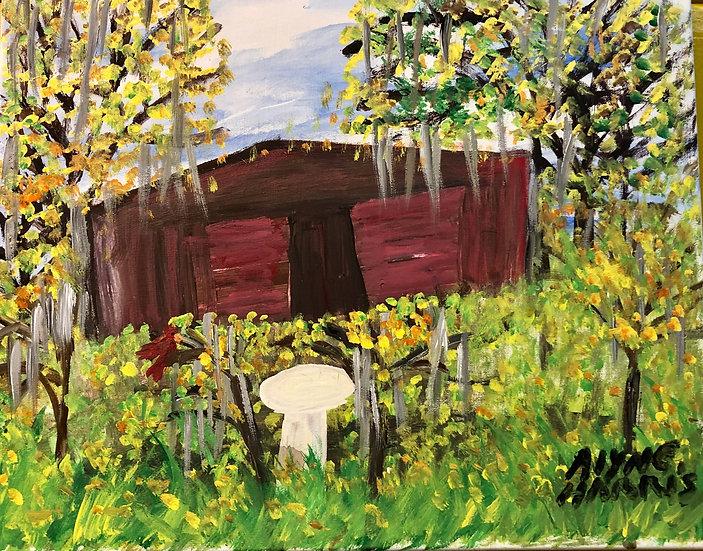 Cardinal on a Fence by Alyne Harris