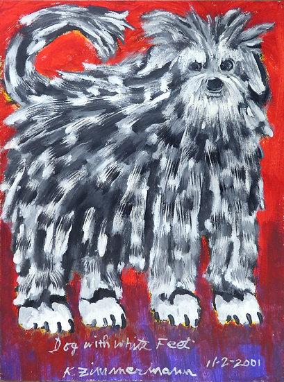 Dog with White Feet by Kurt Zimmerman