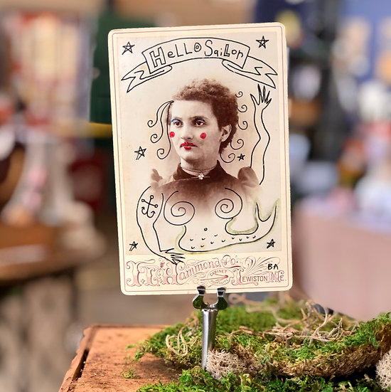 Hello Sailor Cabinet Card by Butch Anthony