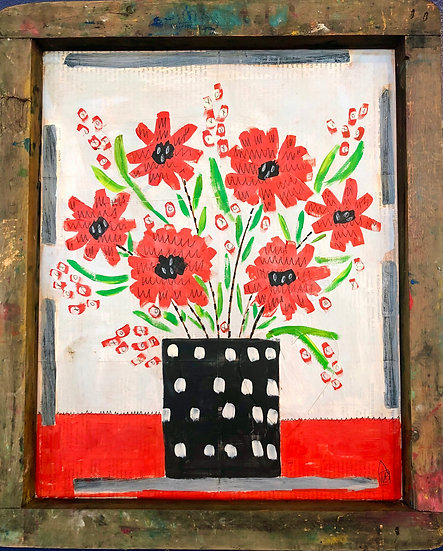 Poppy Floral by Marian Baker