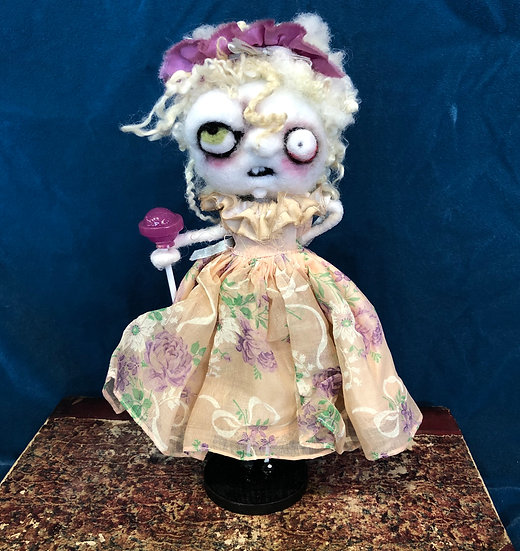 Zombie with Purple Lolly by Kerry Schmidt