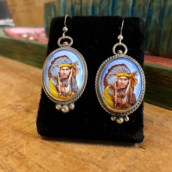 Silver Native American Earrings