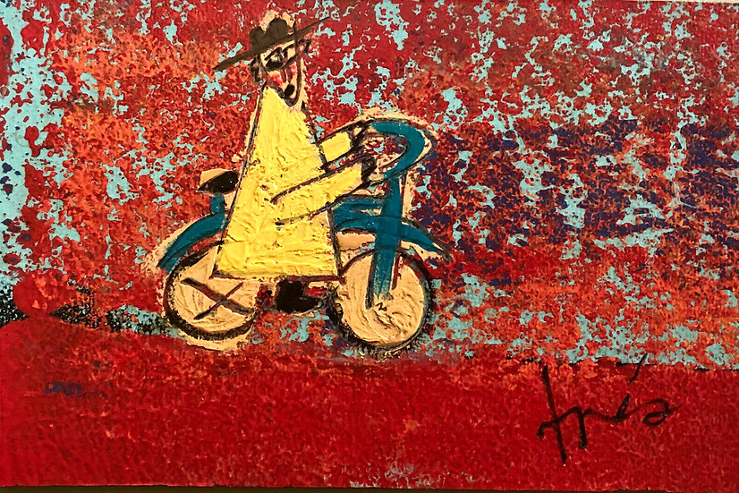Bicycle Monk (horizontal)  by Tres Taylor