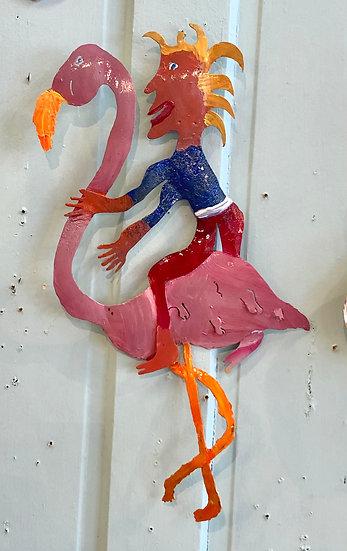 Flamingo Rider by Pat Juneau