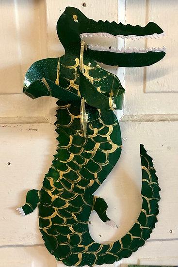 Alligator Playing Saxophone by Pat Juneau