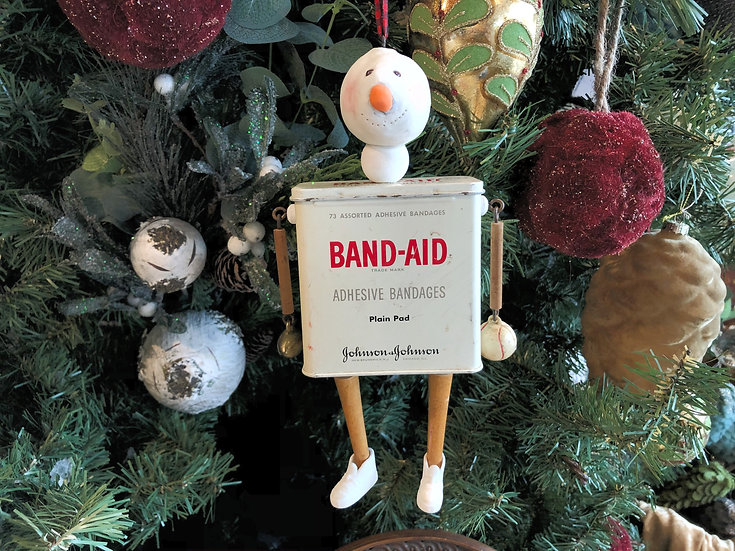 Band Aid Snow Man by Melissa Menzer