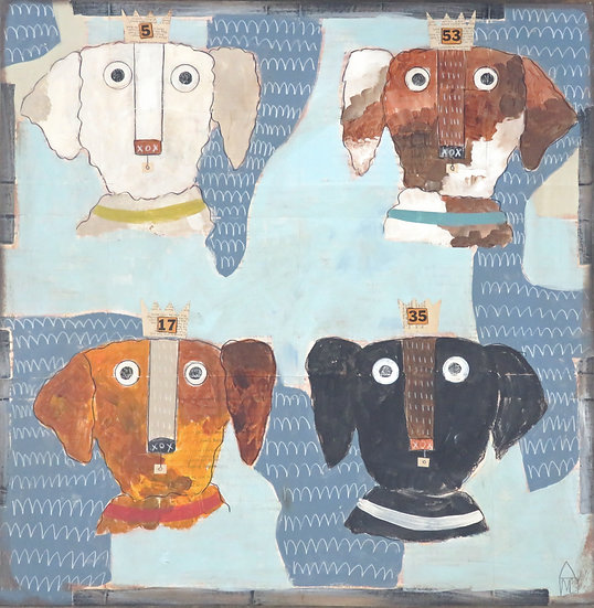 Four Dogs by Marian Baker