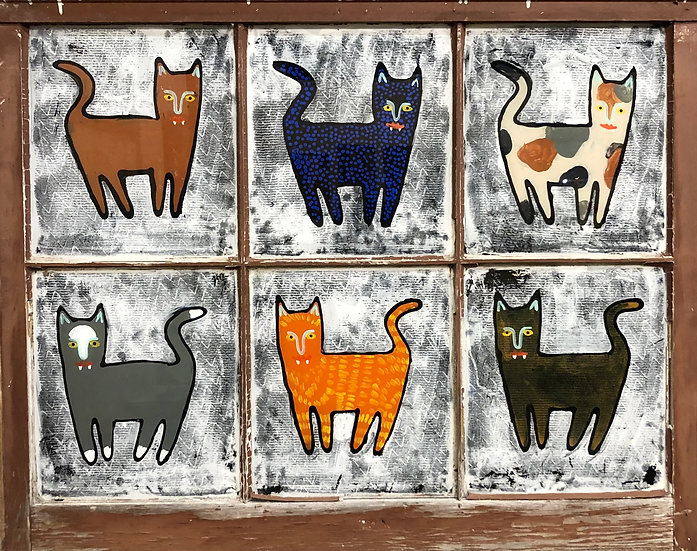 Multi Cats - Brown by Jon Napoles
