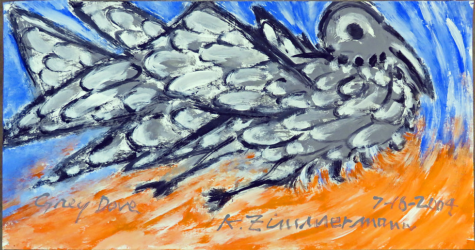 Grey Dove by Kurt Zimmerman