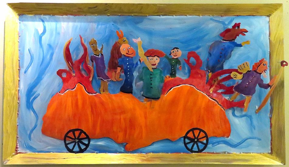 Mardi Gras Float by Pat Juneau