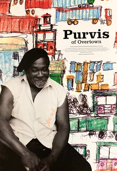 Purvis of Overtown Signed Movie Poster by Purvis Young