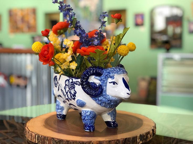 Betty Blue Ram Pot