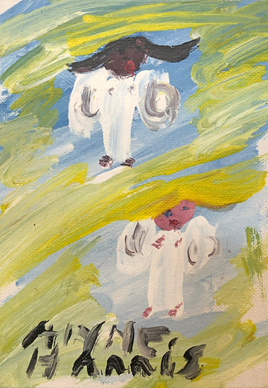 Two Angels in the Clouds by Alyne Harris