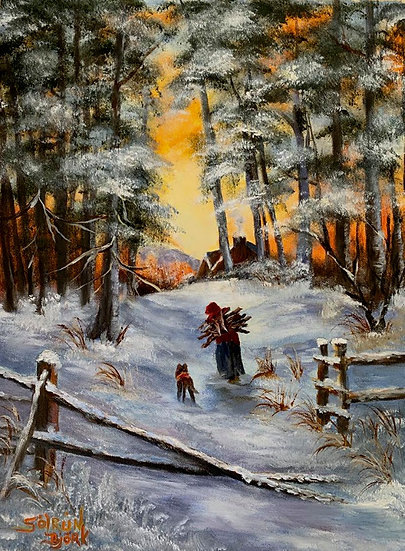 Cold Winter Day by Solrun Bjork