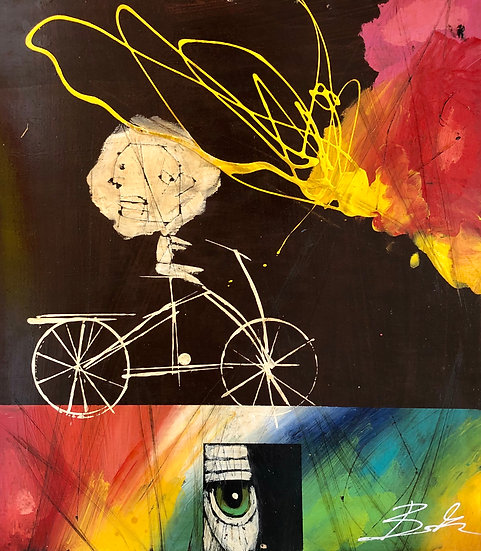 Bicycle Abstraction by Michael Banks
