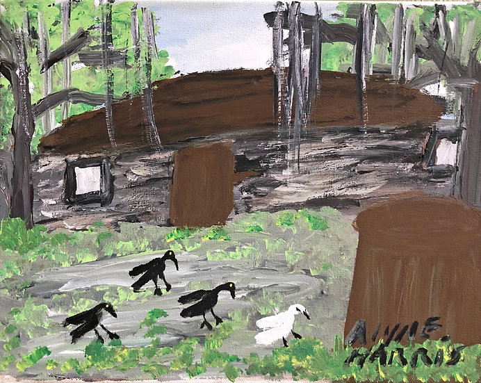 Birds on the Grounds by Alyne Harris