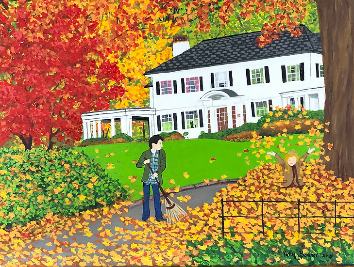 Raking Leaves by Patty Bonner