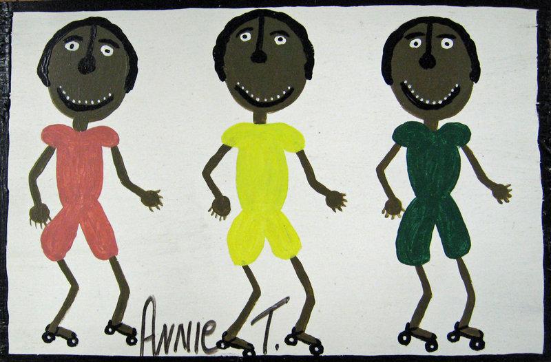 My Three Nephews Roller Skating by Annie Tolliver