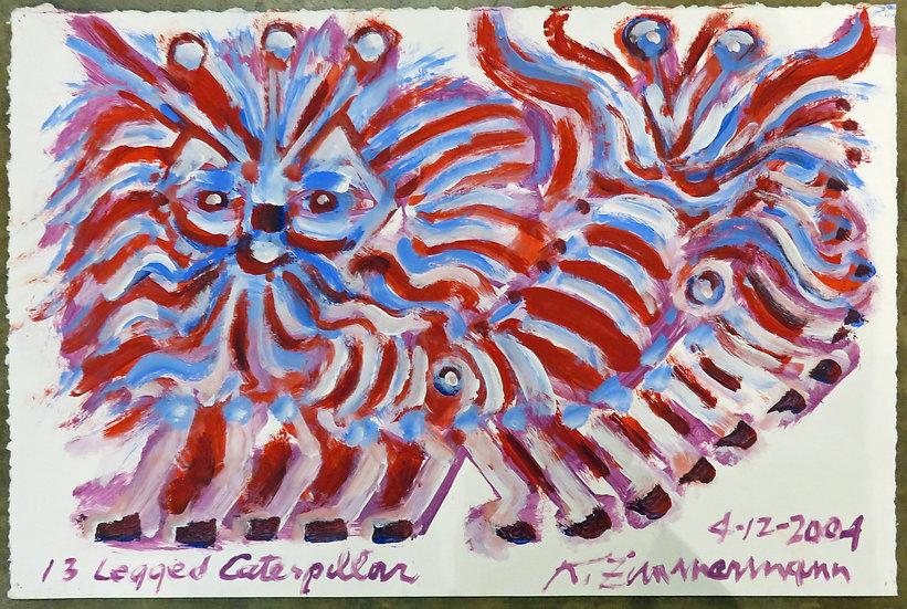 13-Legged Caterpillar by Kurt Zimmerman