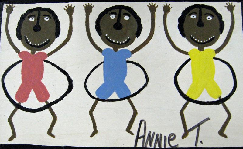 My Three Nephews Hula Hooping by Annie Tolliver